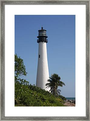 Ligthouse - Key Biscayne Framed Print by Christiane Schulze Art And Photography