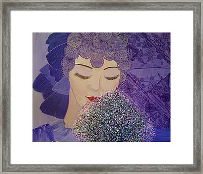 Lilac And Lace Framed Print by Judi Goodwin