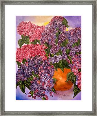 Lilacs Galore Framed Print
