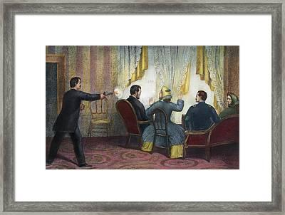Lincoln Assassination, 1865 Framed Print by Granger