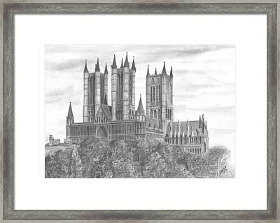 Lincoln Cathedral  Framed Print by Chris Cox