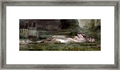 L'inconnue De La Seine Framed Print by Karine Percheron-Daniels