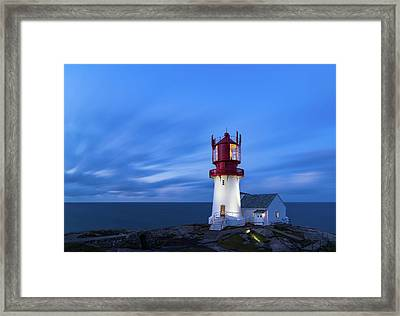 Lindesnes Fyr - Lighthouse In The South Of Norway Framed Print