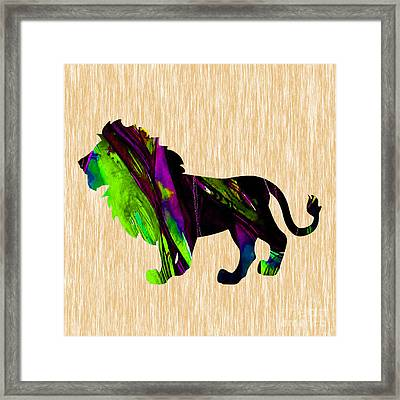 Lion Painting Framed Print by Marvin Blaine
