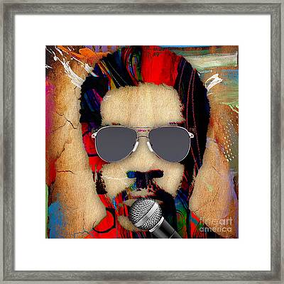 Lionel Richie Collection Framed Print by Marvin Blaine