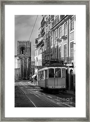 Lisbon Tram Framed Print by Carlos Caetano