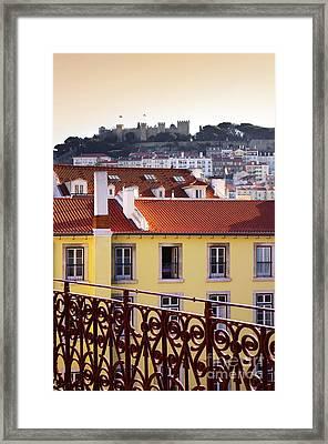 Lisbon View Framed Print by Carlos Caetano