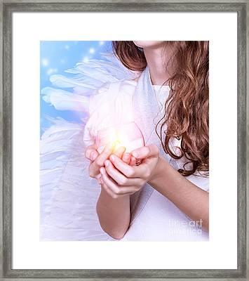 Little Angel Framed Print by Anna Om