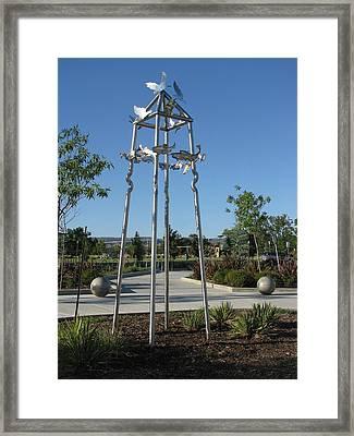 Little Chico Creek Sculpture Framed Print by Peter Piatt