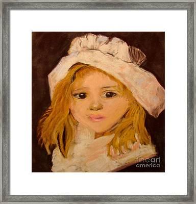 Little Girl Framed Print by Joseph Hawkins