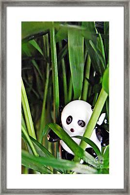 Little Glass Pandas 59 Framed Print by Sarah Loft