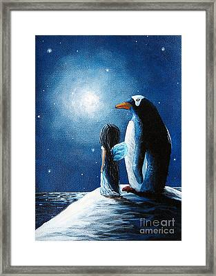 Little Penguin Fairy By Shawna Erback Framed Print by Shawna Erback