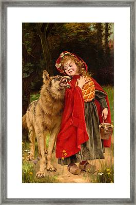 Little Red Riding Hood Framed Print by Gabriel Joseph Marie Augustin Ferrier