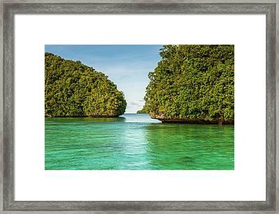Little Rock Islet In The Famous Rock Framed Print by Michael Runkel