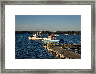 Lobster Boats Maine  Framed Print