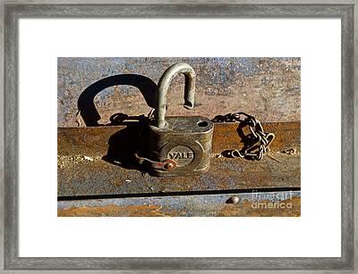 Lock Picking Framed Print
