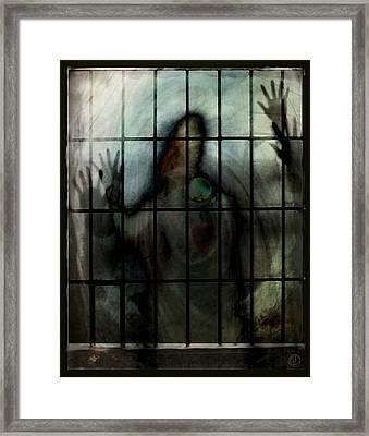 Locked In Framed Print by Gun Legler