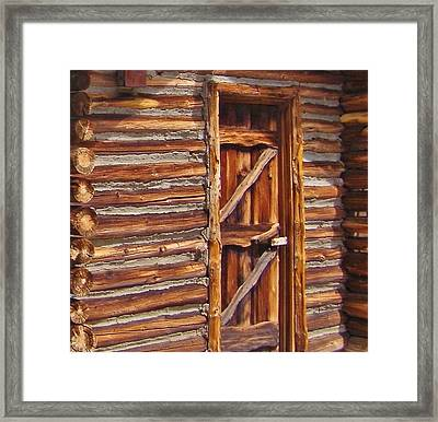 Logs Framed Print