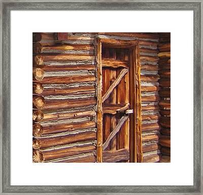 Logs Framed Print by Marilyn Diaz