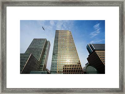 London Docklands Skyscrapers Framed Print by Carlos Dominguez