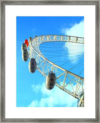 Framed Print featuring the photograph London Eye by Rachel Mirror