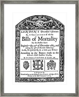 London Plague, 1665 Framed Print