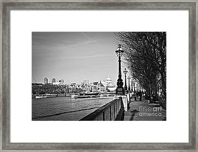 London View From South Bank Framed Print by Elena Elisseeva