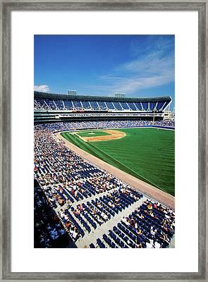 Long View Of Baseball Diamond Framed Print