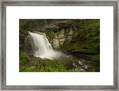 Looking Glass Falls Framed Print by Doug McPherson
