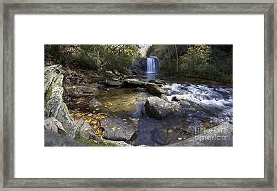 Looking Glass Falls North Carolina Framed Print