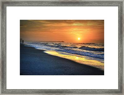 Looking Into The Sunrise Framed Print