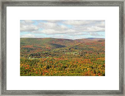 Looking Out Over The Autumn Landscape Framed Print by Susan Pease