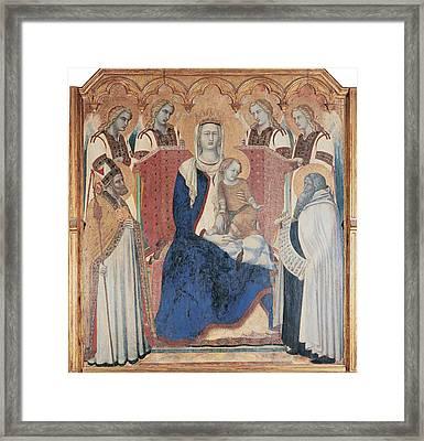 Lorenzetti Pietro, Carmine Altarpiece Framed Print by Everett