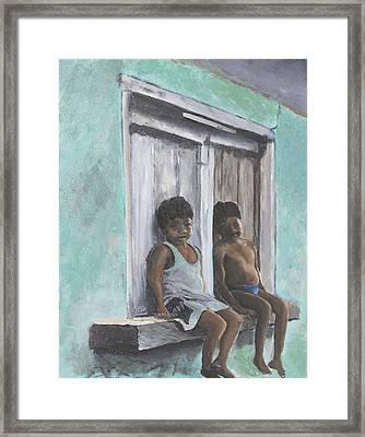 Los Ninos Framed Print