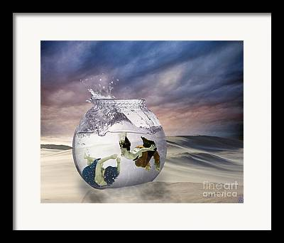 Swimmer Digital Art Framed Prints