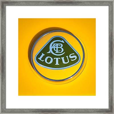 Lotus Emblem Framed Print by Jill Reger