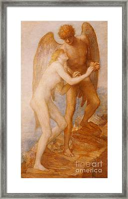 Love And Life Framed Print by George Frederic Watts