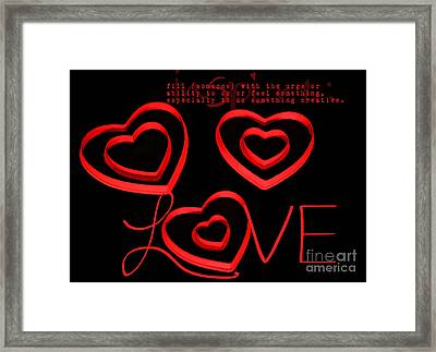 Love Framed Print by Darren Fisher
