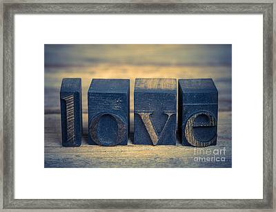 Love In Printing Blocks Framed Print