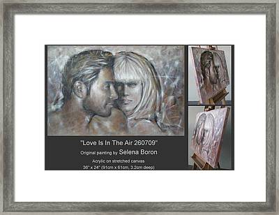Framed Print featuring the painting Love Is In The Air 260709 by Selena Boron