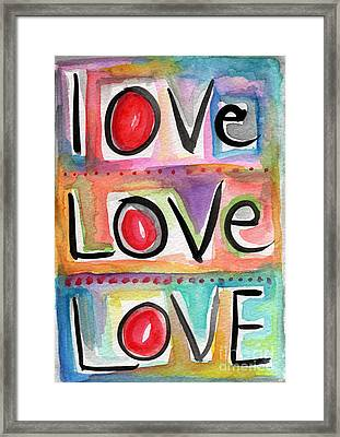 Love Framed Print by Linda Woods