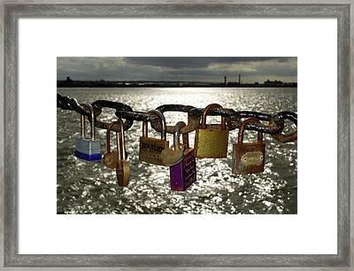 Love Locks Framed Print