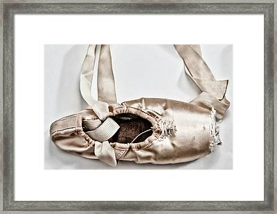 Love Written With Ballet Shoes Framed Print by 2014 Ap