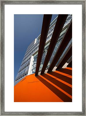 Low Angle View Of A Modern Building Framed Print by Panoramic Images