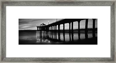 Low Angle View Of A Pier, Manhattan Framed Print