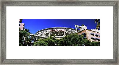 Low Angle View Of Baseball Park, Petco Framed Print