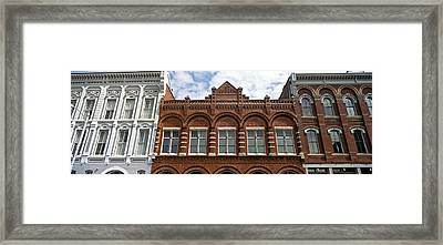 Low Angle View Of Buildings Framed Print