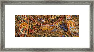 Low Angle View Of Fresco On The Ceiling Framed Print