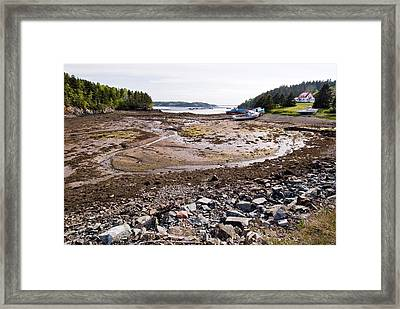 Low Tide Framed Print by Andrew J. Martinez