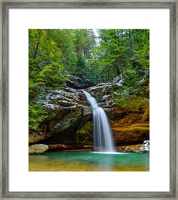 Lower Falls At Old Man's Cave Framed Print